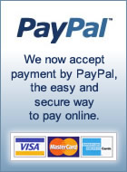 We now accept payment by Paypal. Perfect if you are outside of New Zealand.